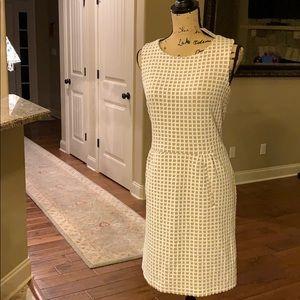 ✨NWT✨ Tyler Boe Tan & Cream Textured Pattern Dress